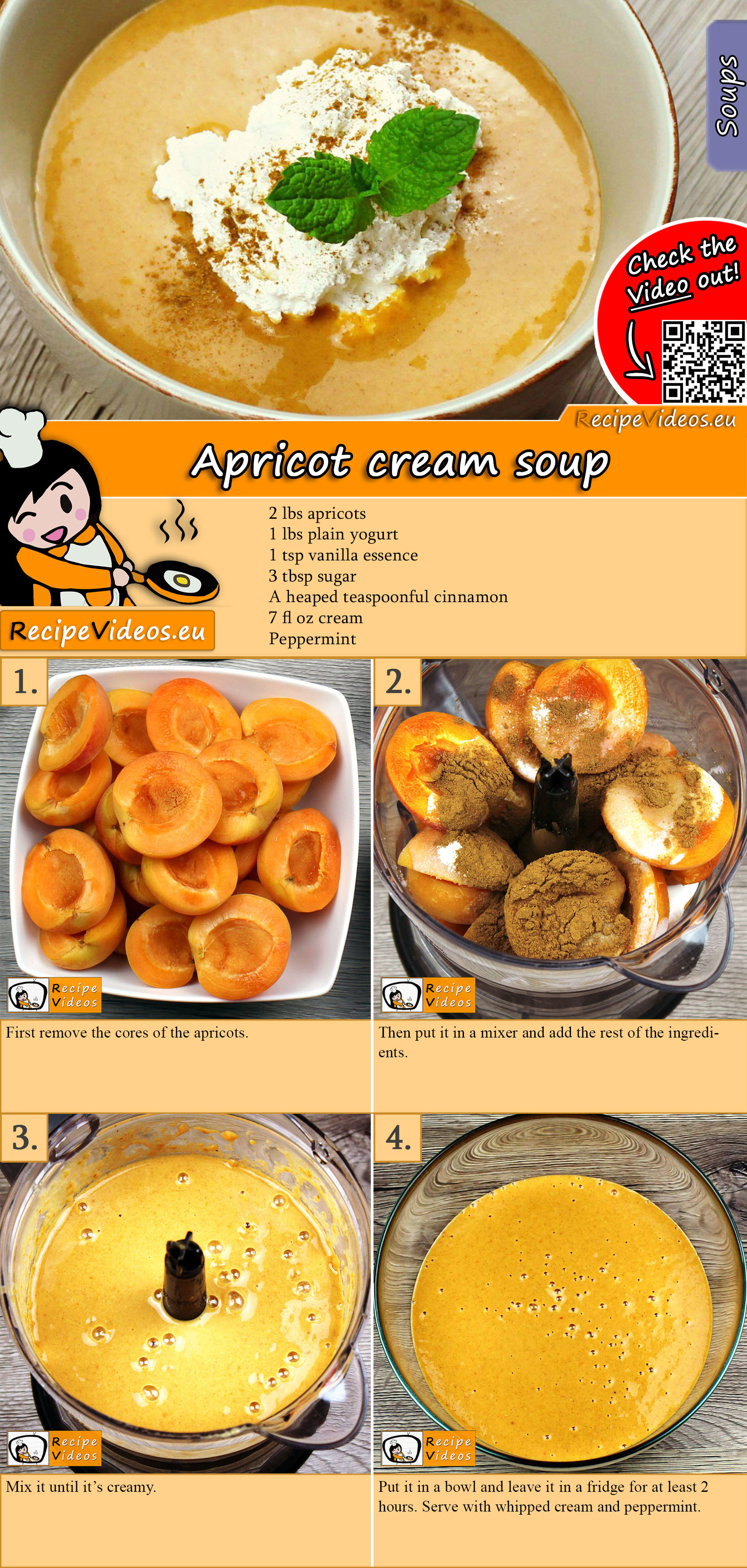 Apricot cream soup recipe with video