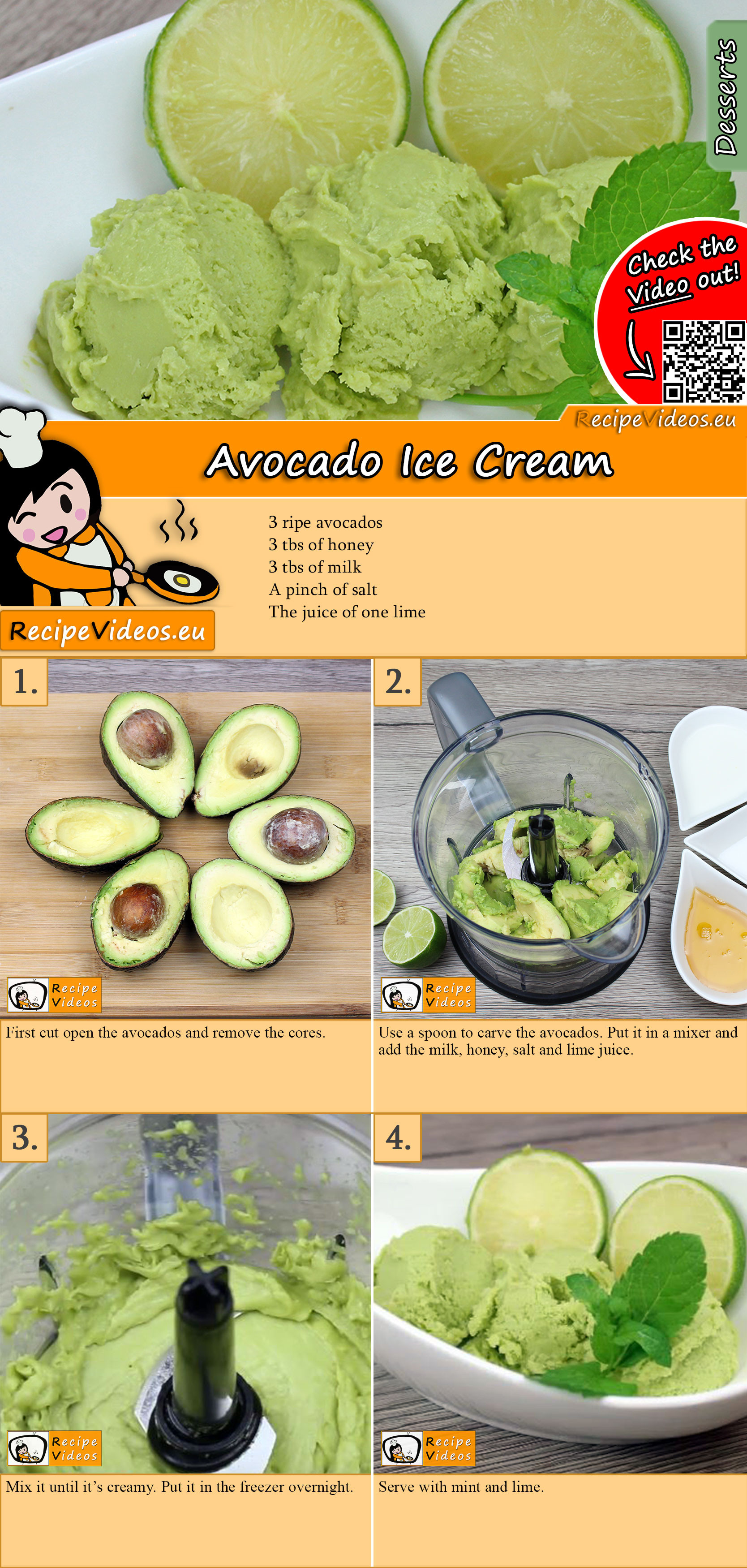 Avocado Ice Cream recipe with video