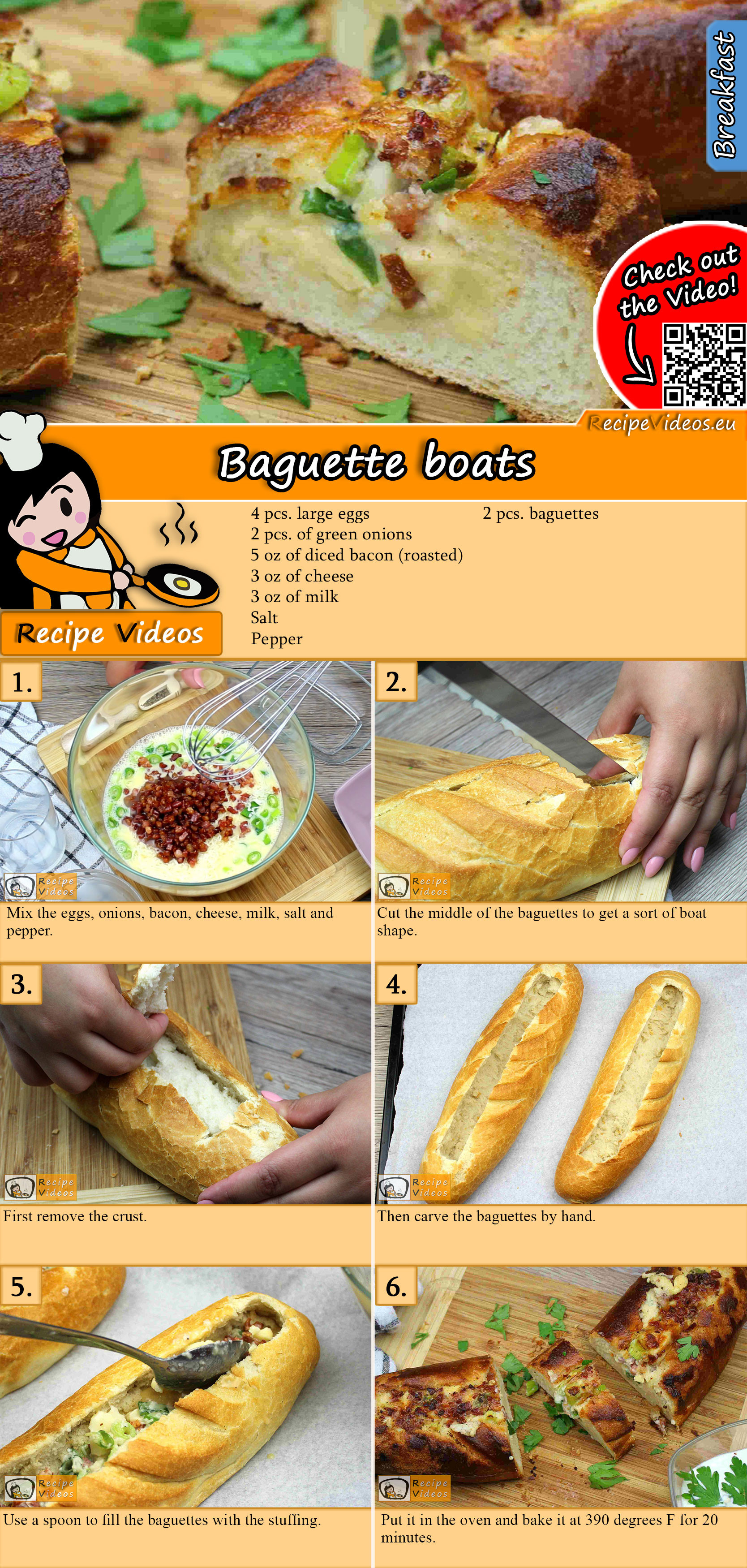 Baguette boats recipe with video