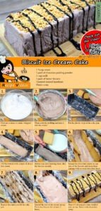 Biscuit Ice Cream Cake recipe with video