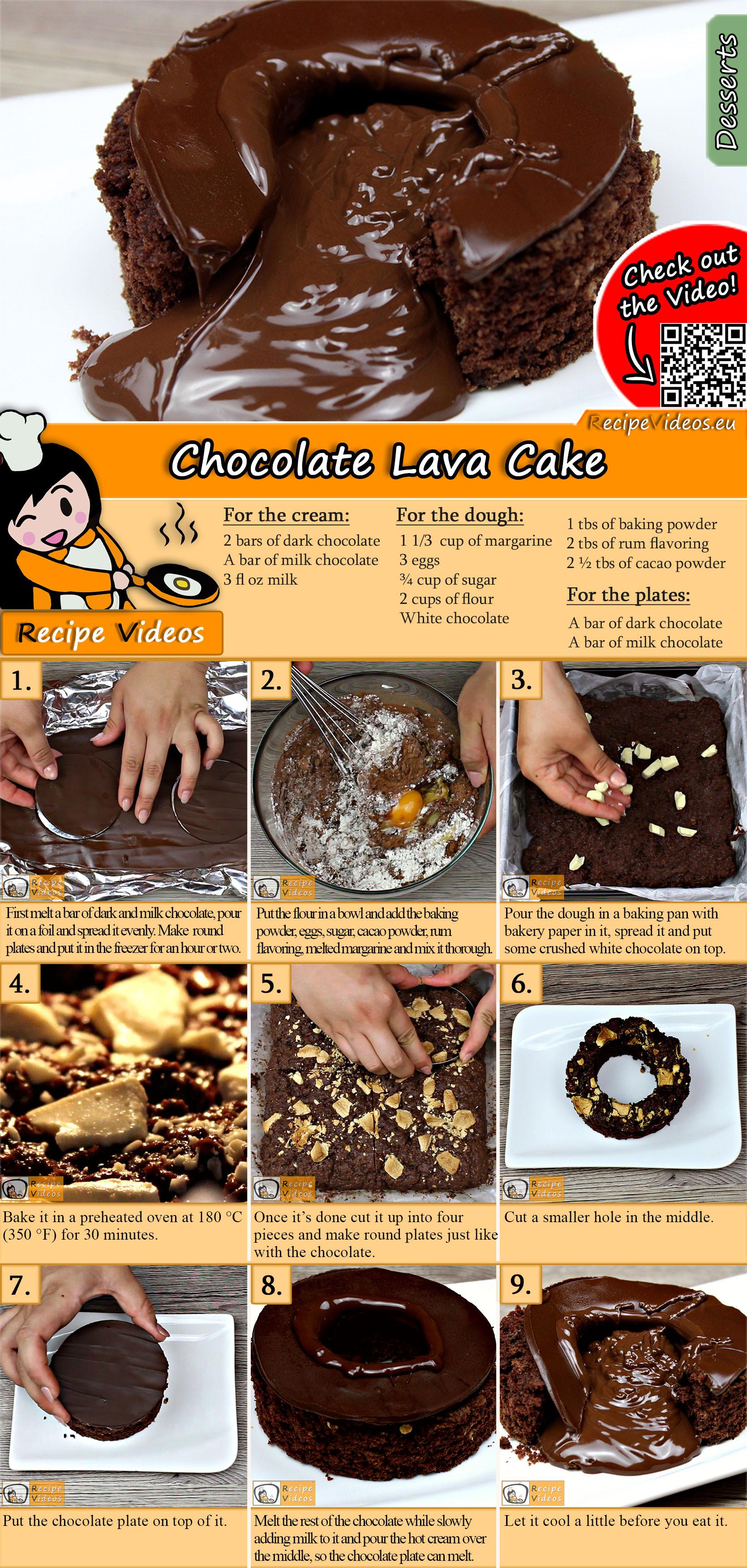Chocolate Lava Cake recipe with video