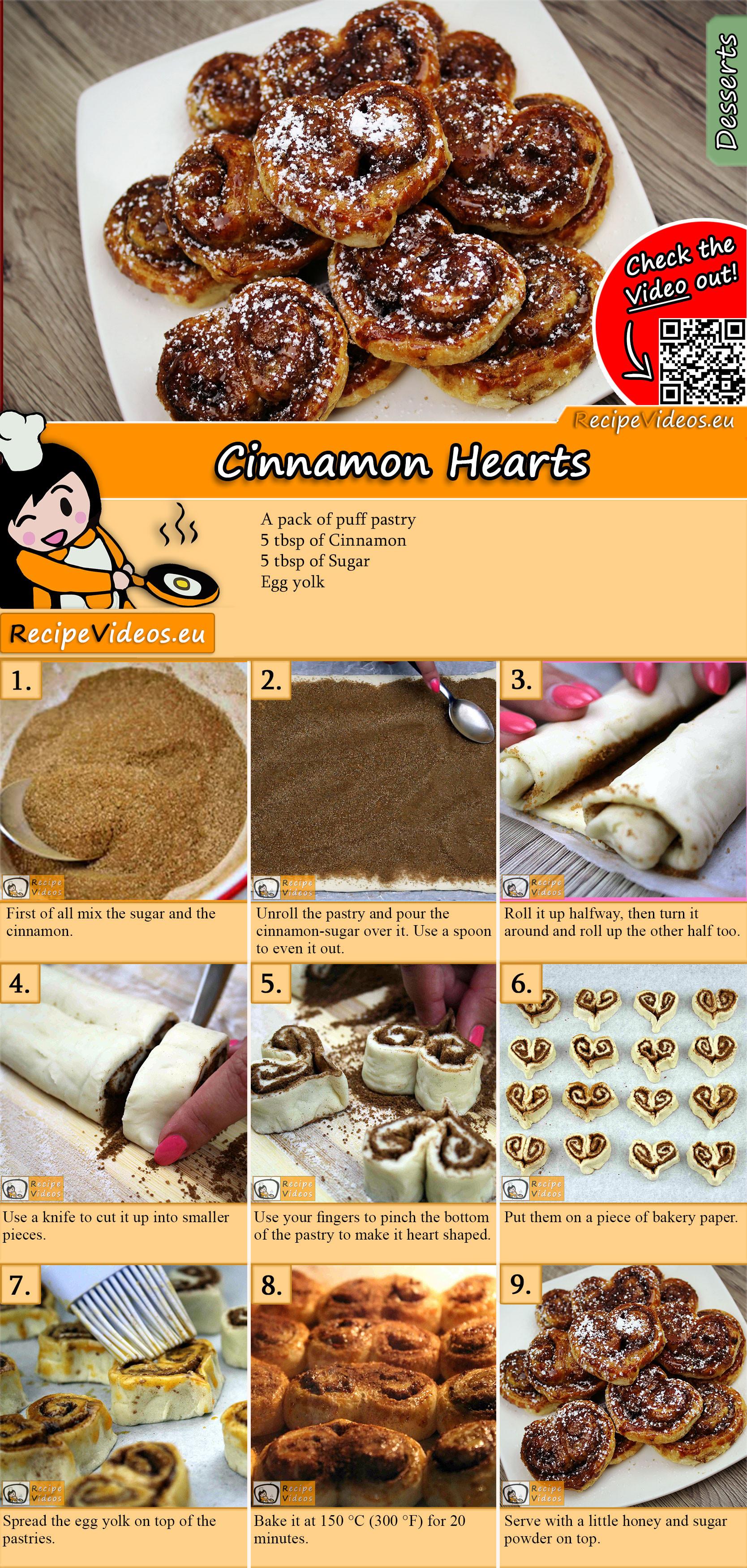 Cinnamon hearts recipe with video