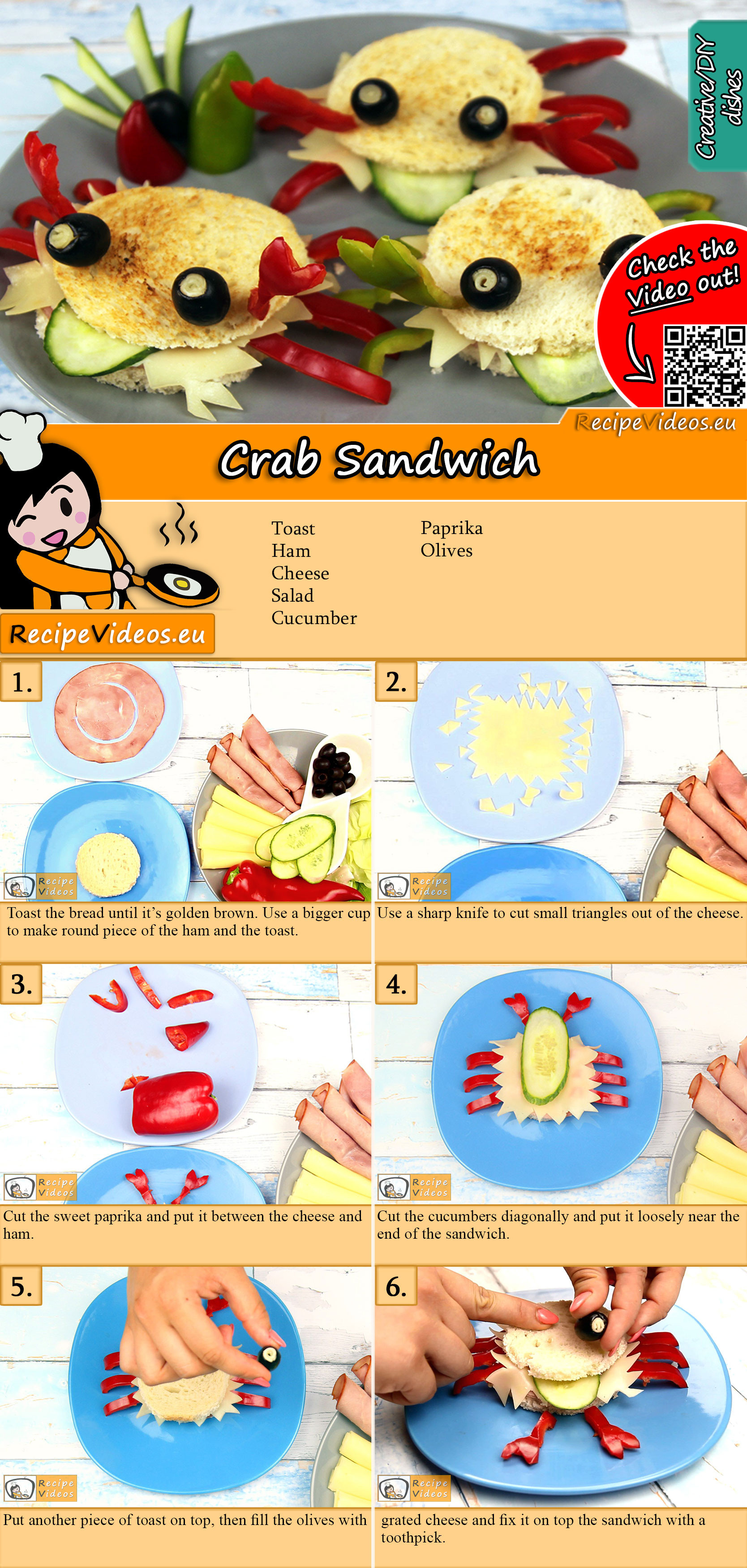 Crab sandwich recipe with video