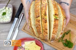 Bread filled with cheese and herbs recipe, how to make Bread filled with cheese and herbs recipe step 2