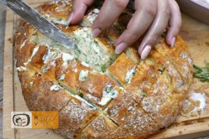 Bread filled with cheese and herbs recipe, prepping Bread filled with cheese and herbs recipe step 3