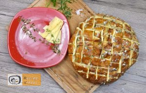 Bread filled with cheese and herbs recipe, how to make Bread filled with cheese and herbs recipe step 4