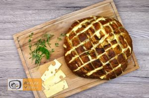 Bread filled with cheese and herbs recipe, how to make Bread filled with cheese and herbs recipe step 5