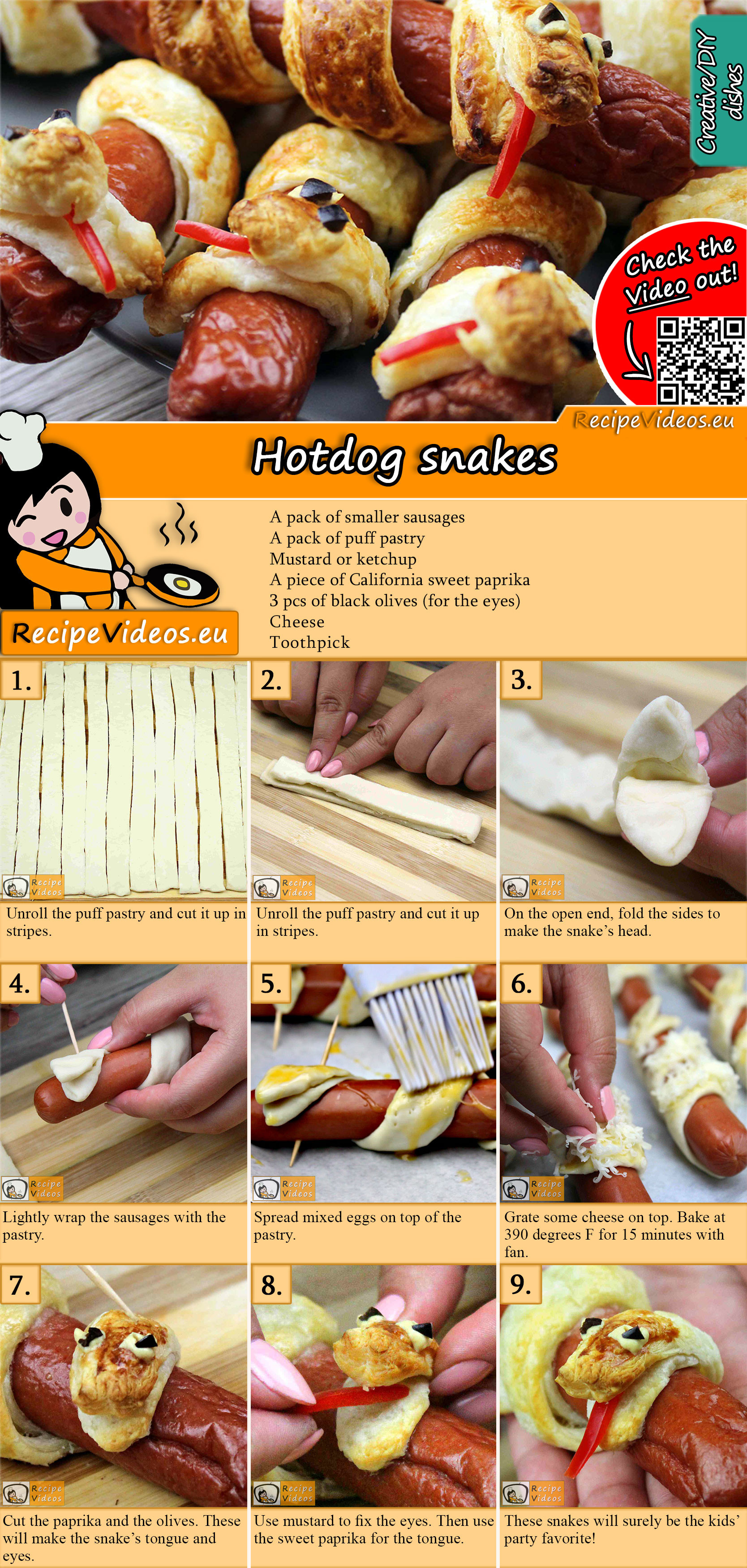 Hotdog snakes recipe with video