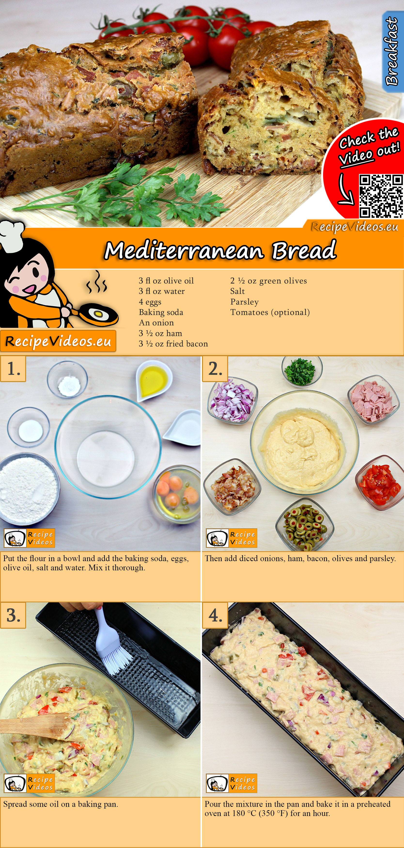 Mediterranean Bread recipe with video