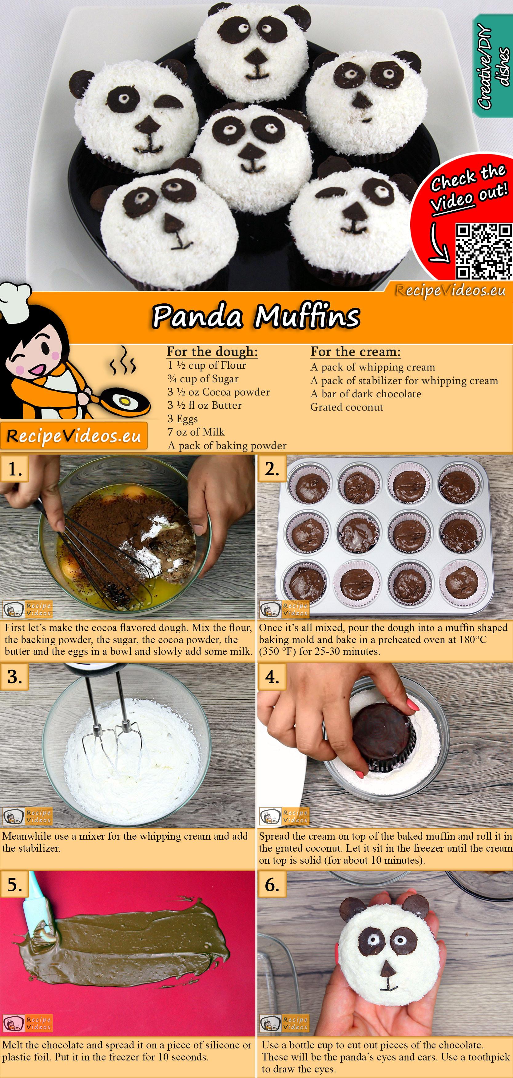 Panda muffins recipe with video