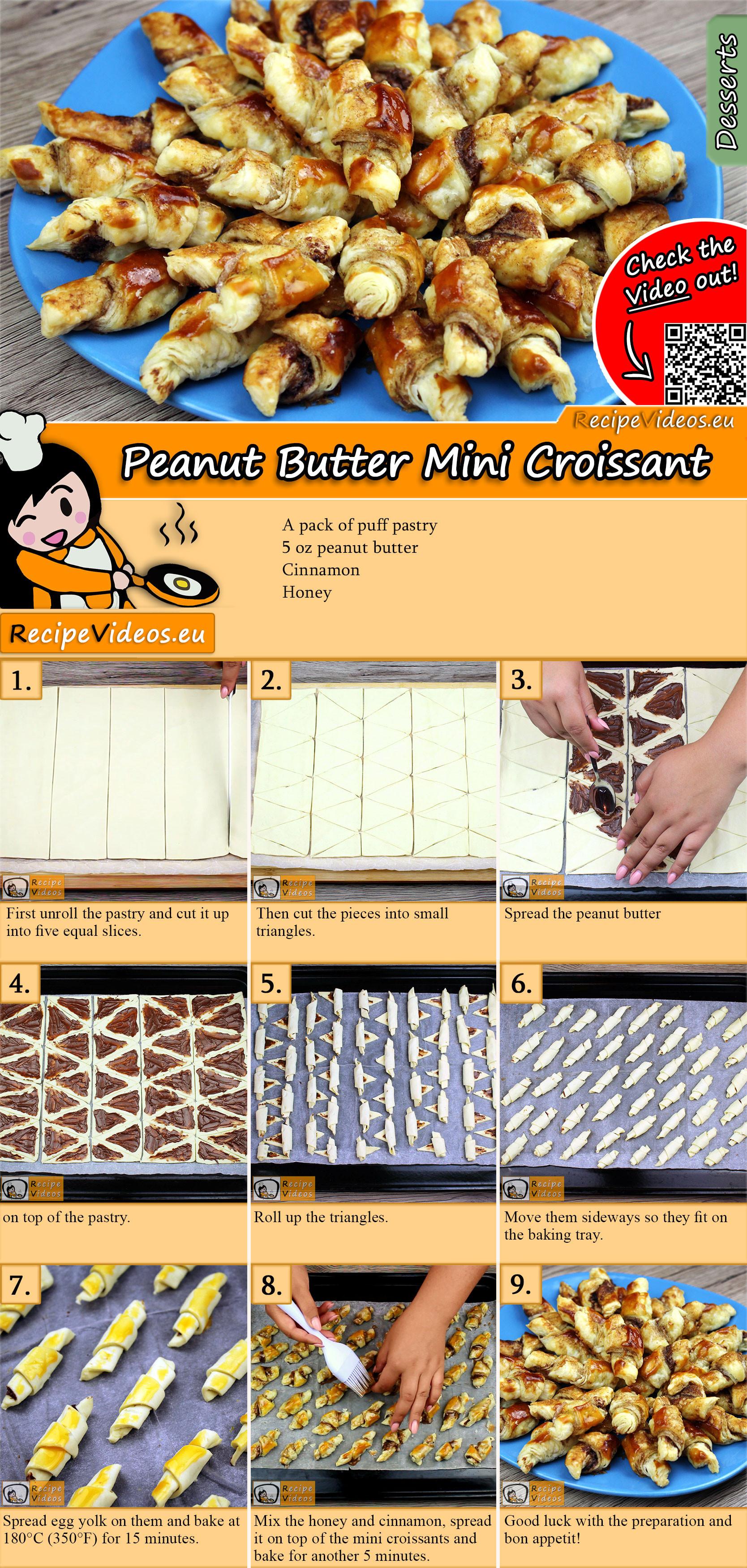 Peanut Butter Mini Croissant recipe with video