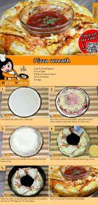 Pizza wreath recipe with video