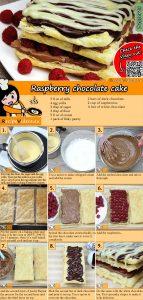 Raspberry chocolate cake recipe with video
