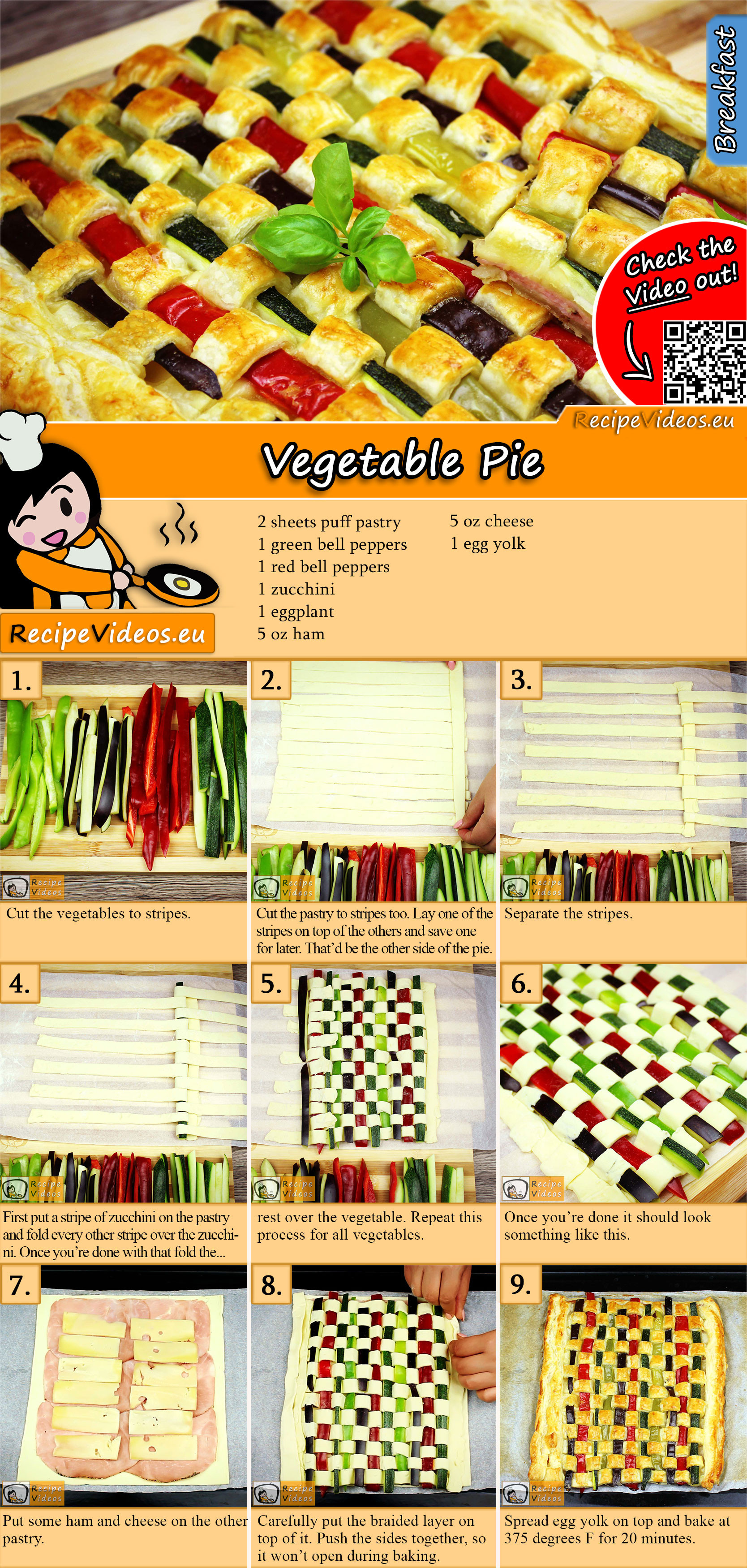 Vegetable Pie recipe with video