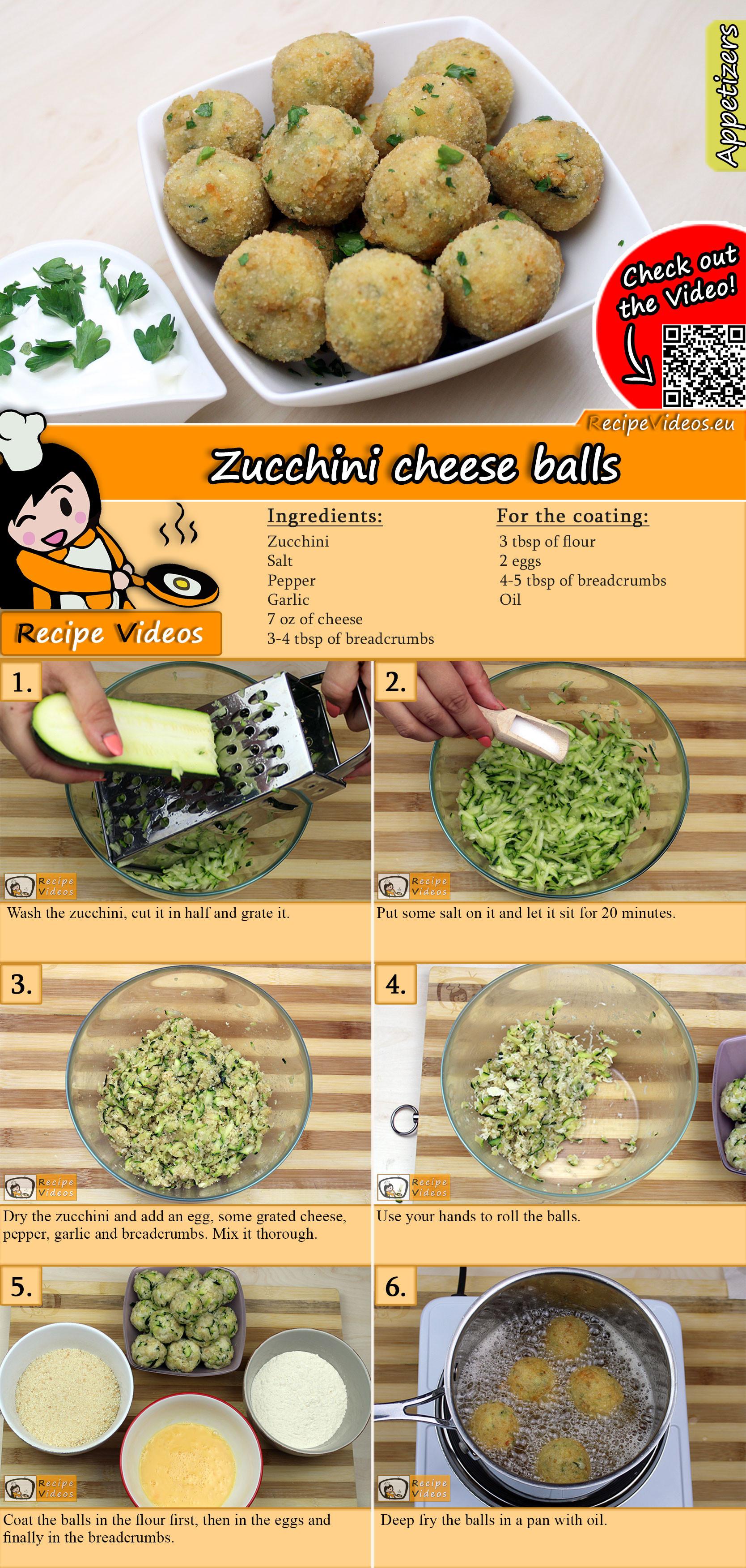 Zucchini cheese balls recipe with video