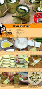 Zucchini rolls recipe with video
