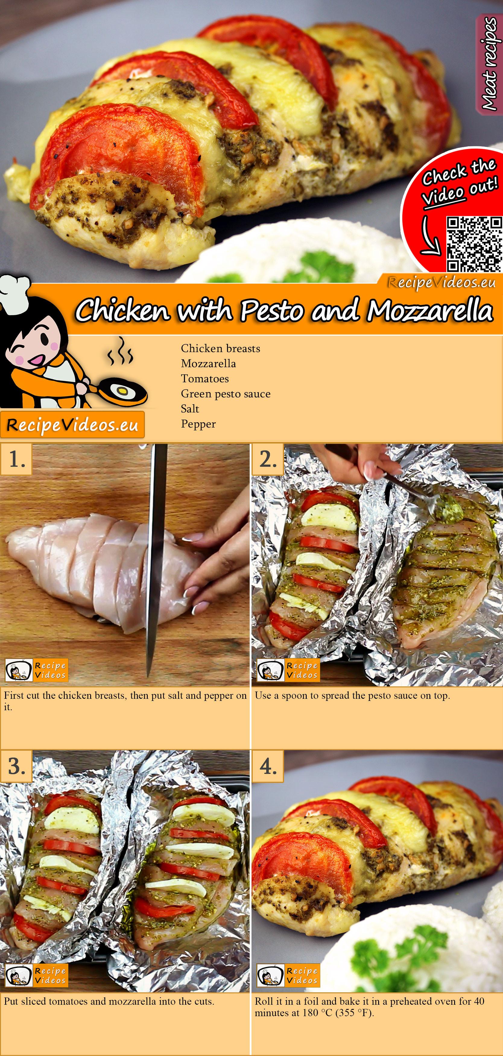 Chicken with Pesto and Mozzarella recipe with video
