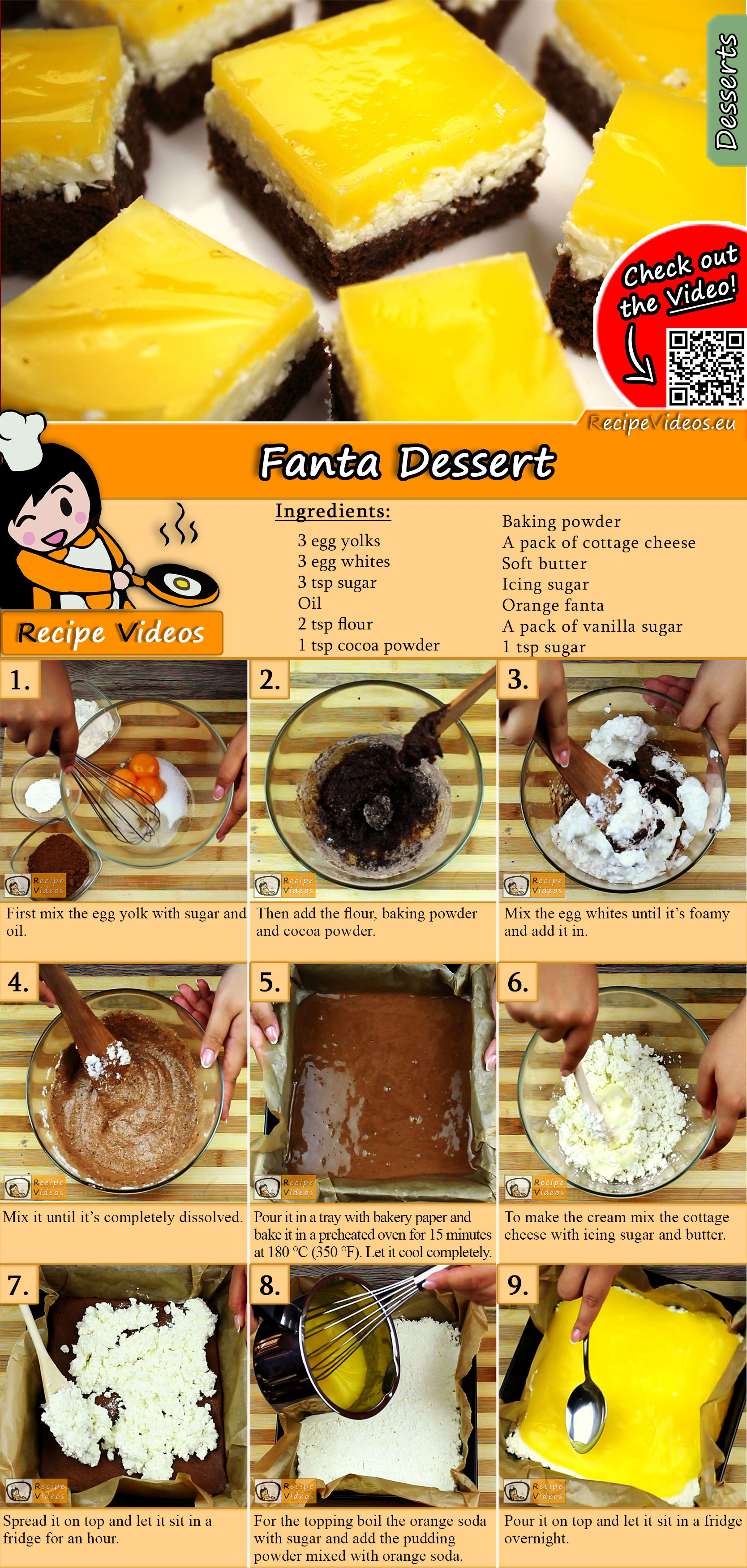 Fanta Dessert recipe with video