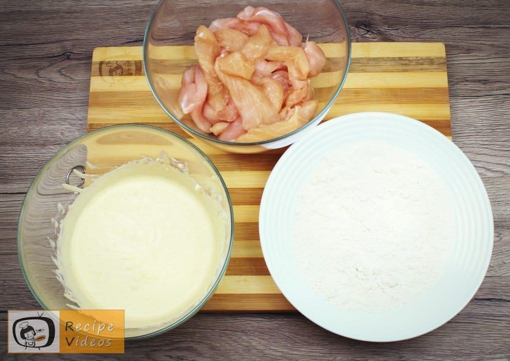 Chicken strips in garlic-sour cream recipe, how to make Chicken strips in garlic-sour cream step 3