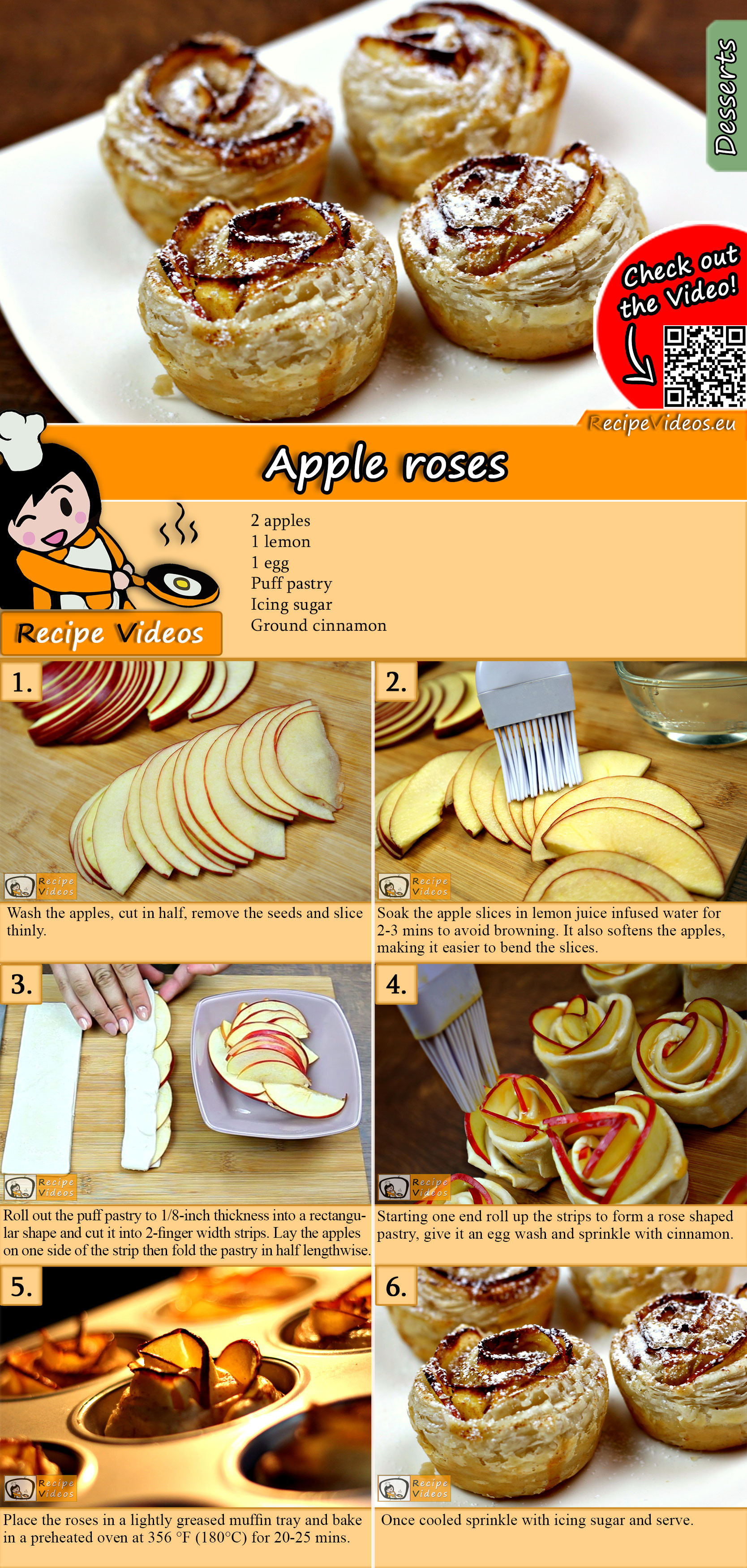 Apple roses recipe with video
