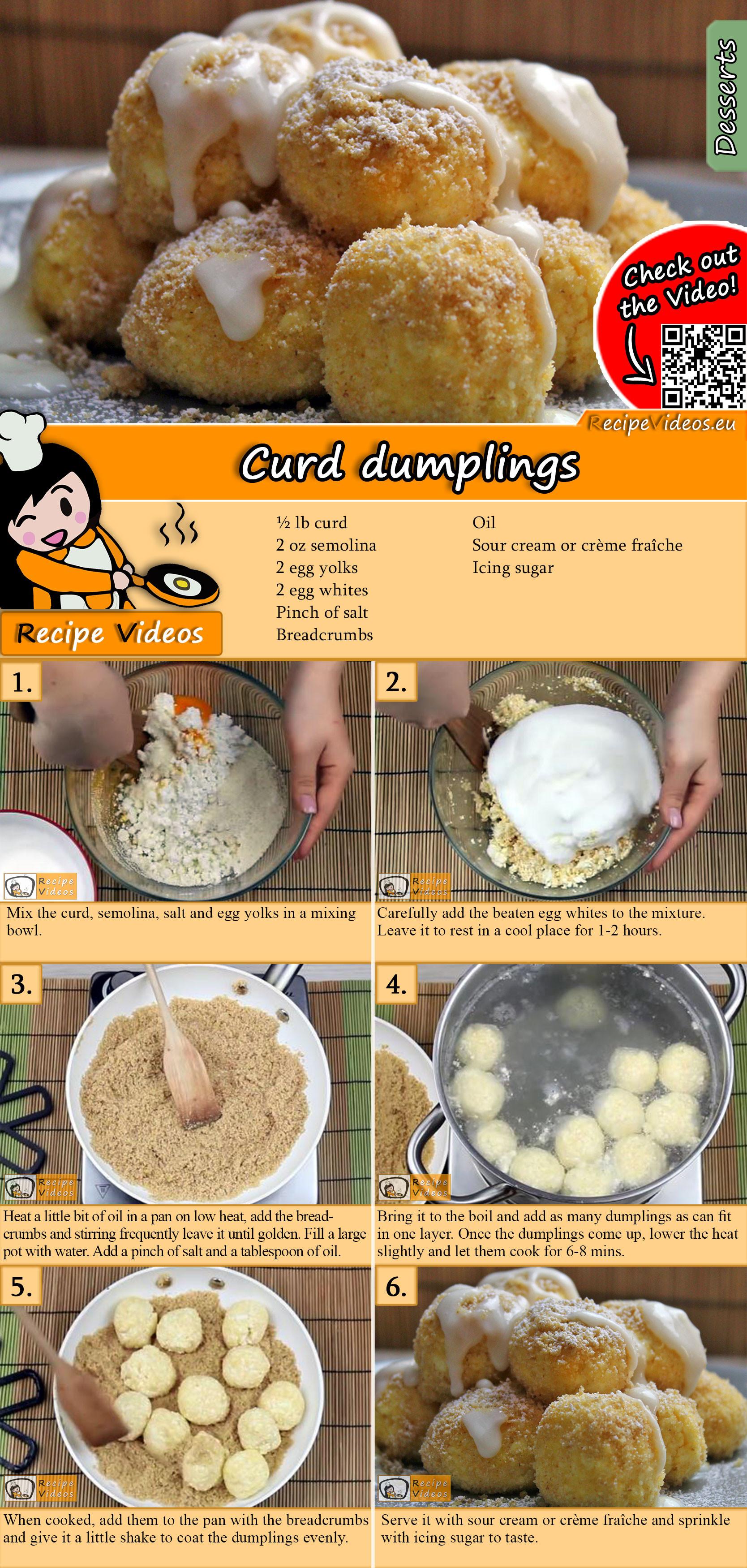 Curd dumplings recipe with video