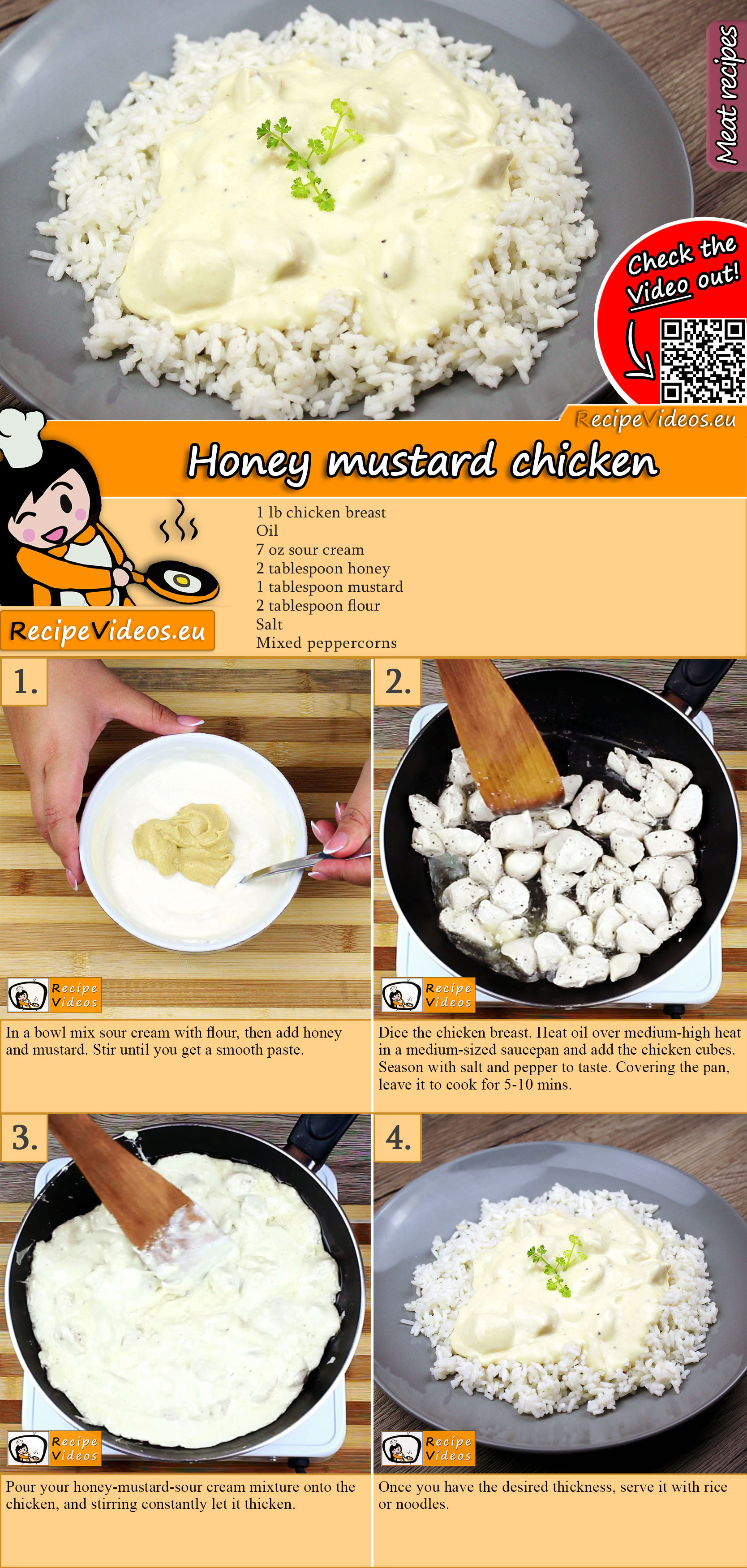 Honey mustard chicken recipe with video