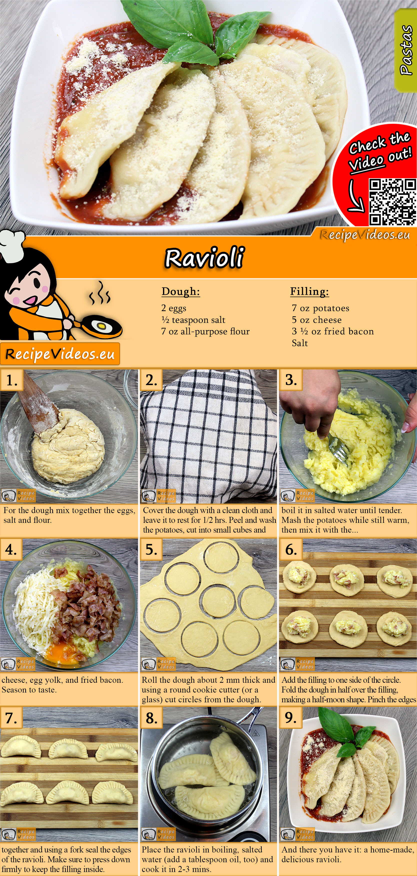 Ravioli recipe with video