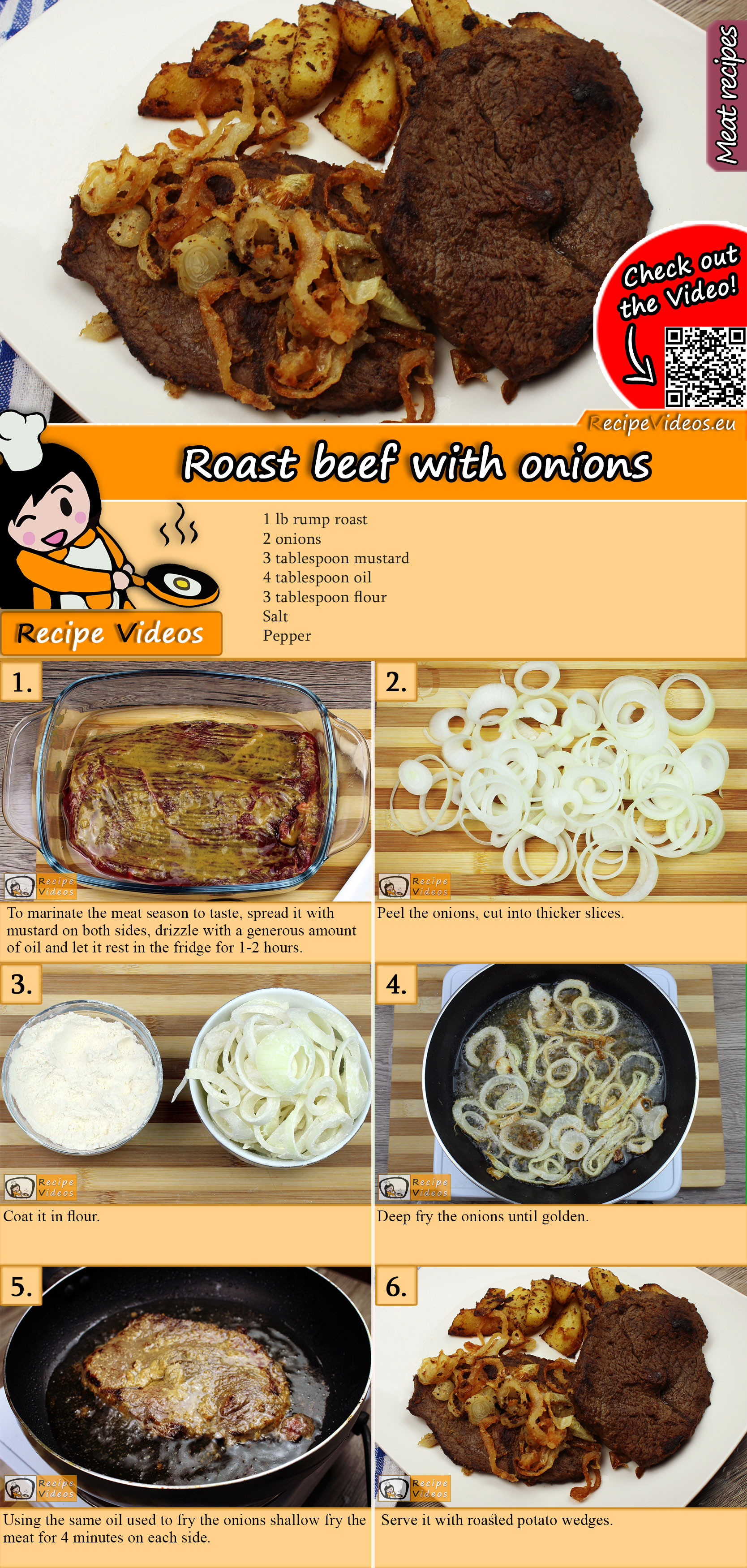 Roast beef with onions recipe with video