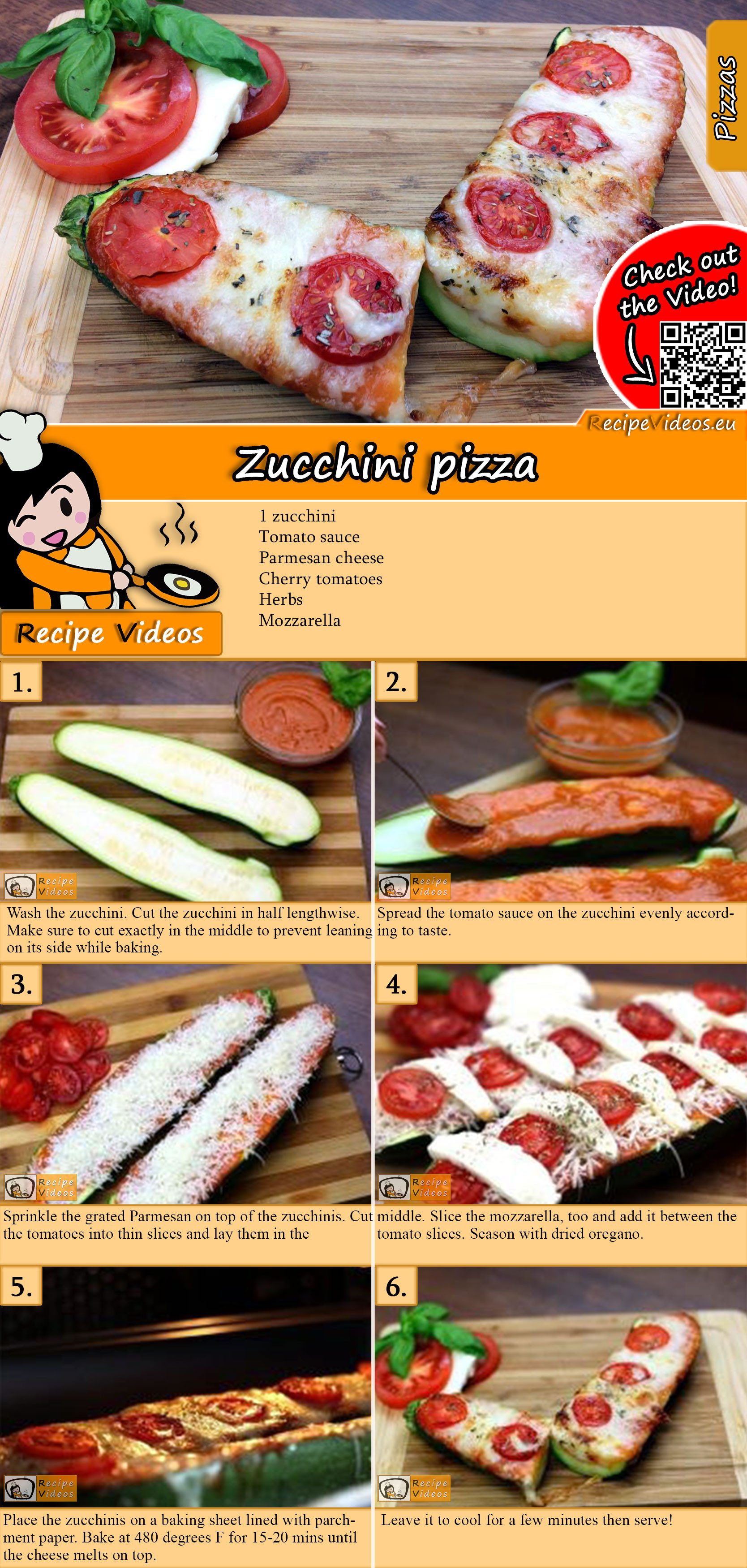 Zucchini pizza recipe with video