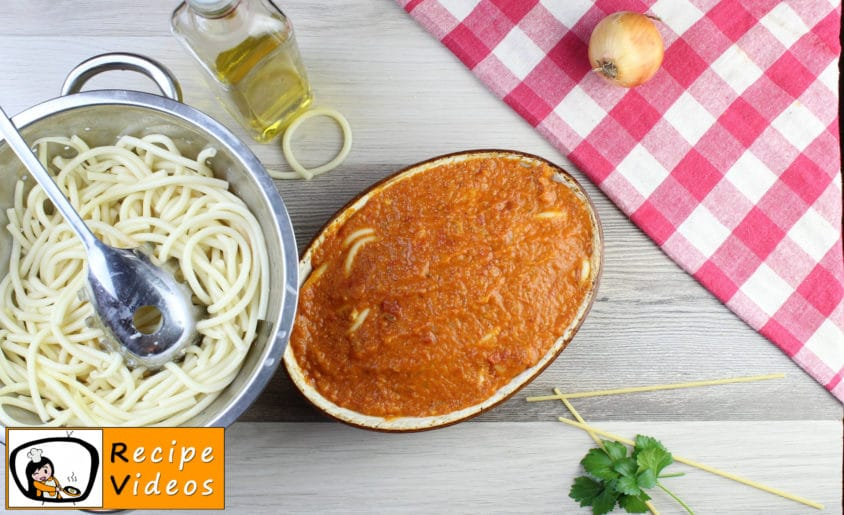 Baked tomato macaroni recipe, prepping Baked tomato macaroni step 9