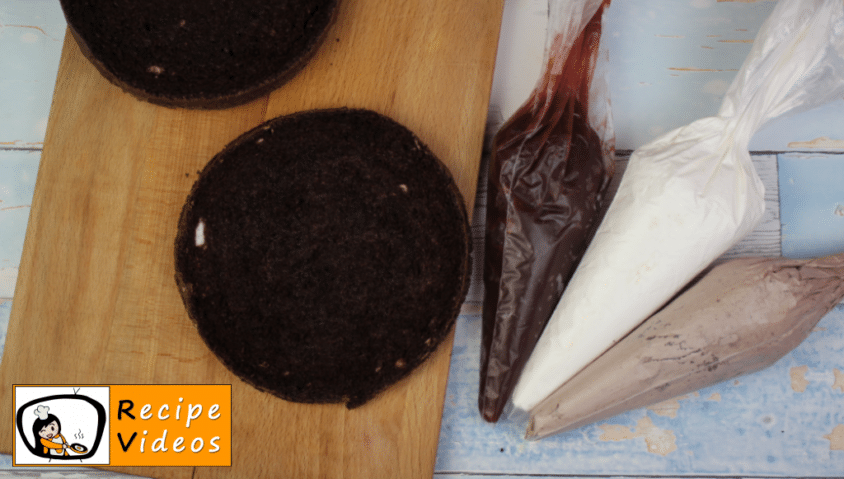 Black Forest cake recipe, prepping Black Forest cake step 10