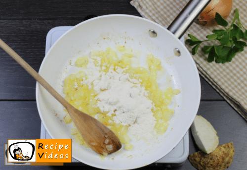 Celery cream soup recipe, prepping Celery cream soup step 3