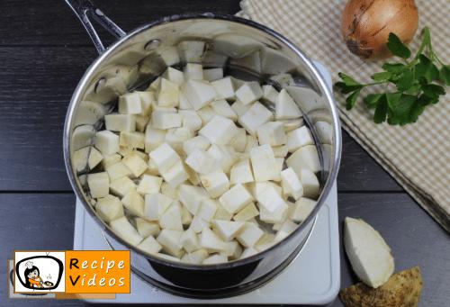 Celery cream soup recipe, prepping Celery cream soup step 1