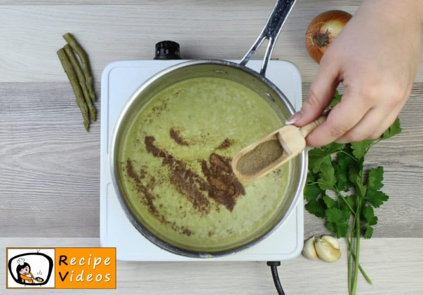 Cream of Asparagus soup recipe, how to make Cream of Asparagus soup step 7