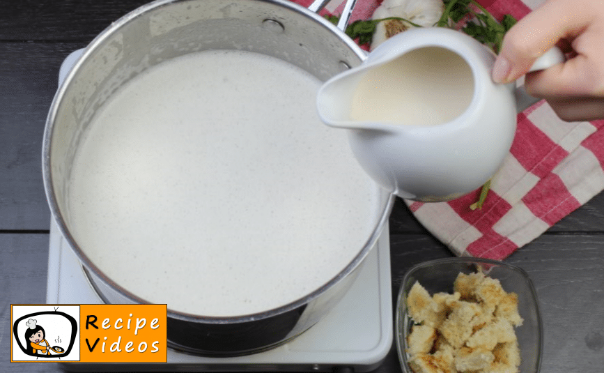 Creamy cheese soup recipe, prepping Creamy cheese soup step 7