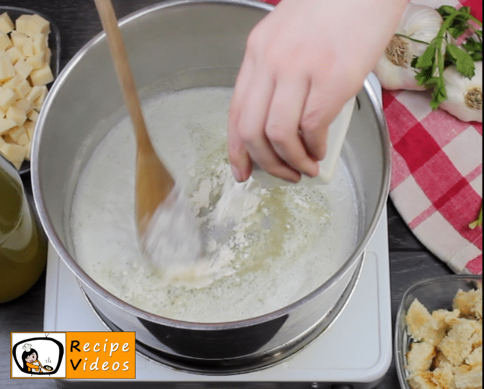 Creamy cheese soup recipe, prepping Creamy cheese soup step 2