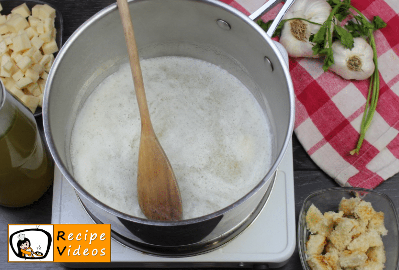 Creamy cheese soup recipe, prepping Creamy cheese soup step 1
