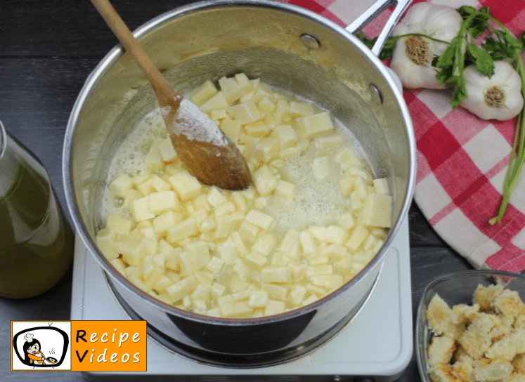 Creamy cheese soup recipe, prepping Creamy cheese soup step 3