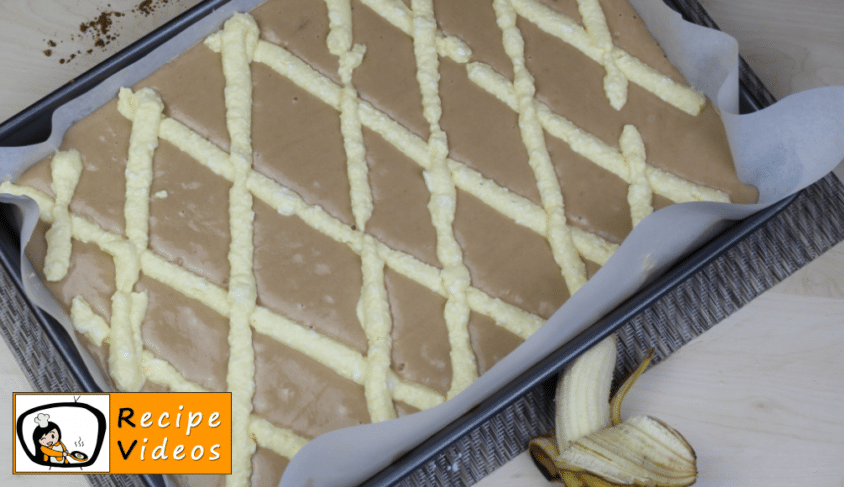 Fake lattice cake with chocolate cream and bananas recipe, how to make Fake lattice cake with chocolate cream and bananas step 11