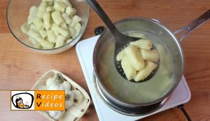 Garlic gnocchi with cheese sauce recipe, how to make Garlic gnocchi with cheese sauce step 4