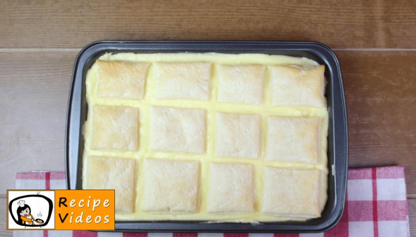 Home-made cream slices recipe, prepping Home-made cream slices step 8