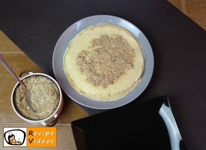 Homemade Gundel pancakes recipe, prepping Homemade Gundel pancakes step 9