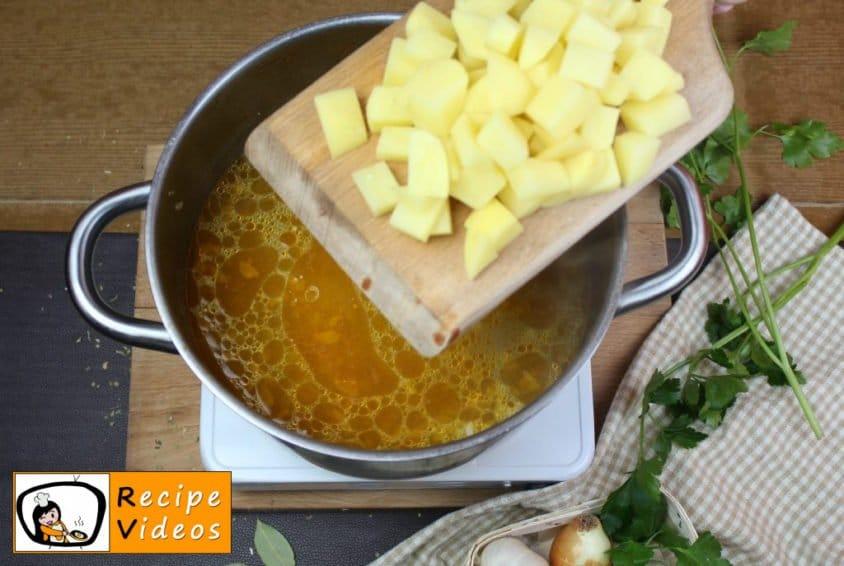 Palóc soup recipe, prepping Palóc soup step 8