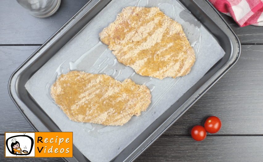 Oven-baked Schnitzel recipe, how to make Oven-baked Schnitzel step 4