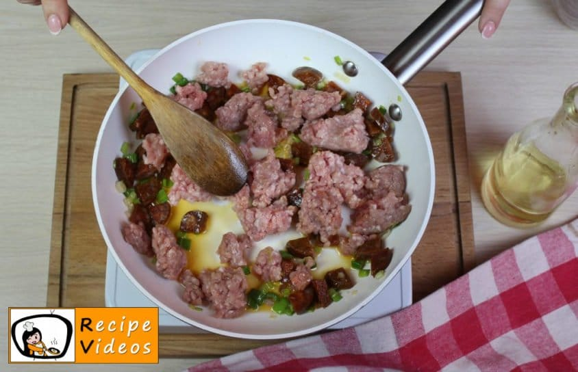 Pockets with minced meat recipe, prepping Pockets with minced meat step 3