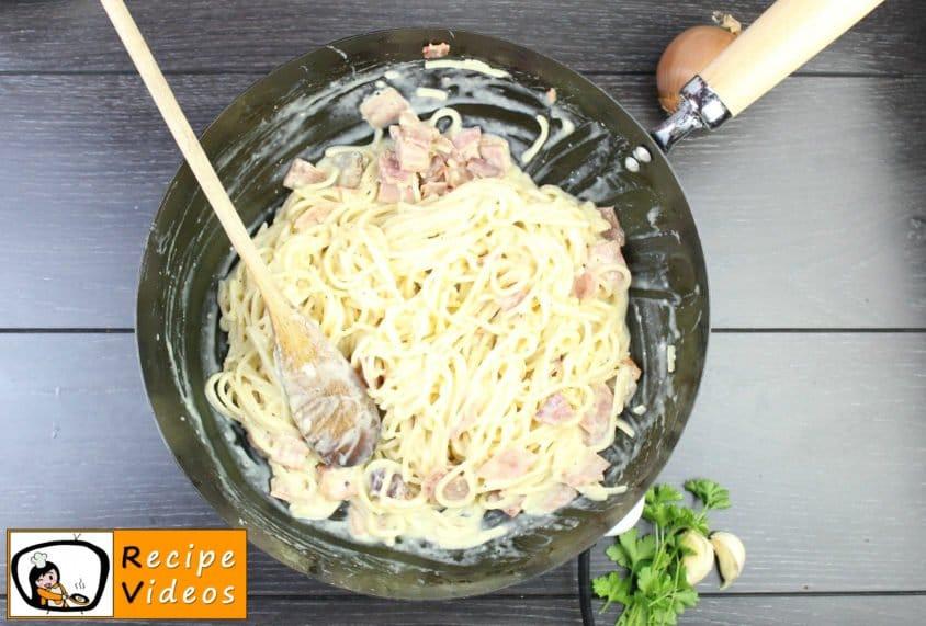 Spaghetti Carbonara recipe, prepping Spaghetti Carbonara step 6