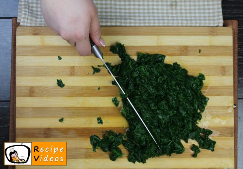 Spinach recipe, prepping Spinach step 3