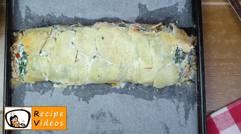 Stuffed potato roll in cheese crust recipe, prepping Stuffed potato roll in cheese crust step 12