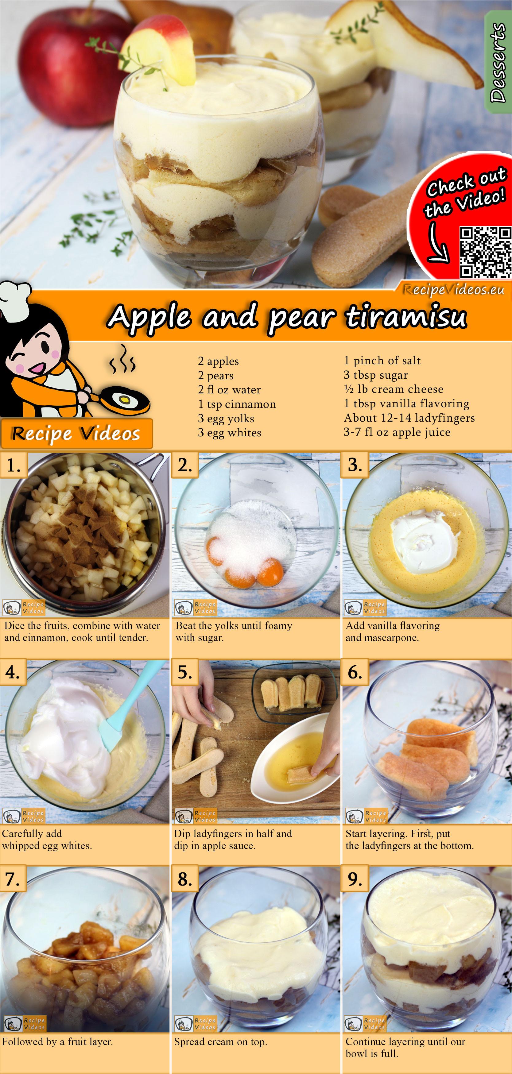 Apple and pear tiramisu recipe with video