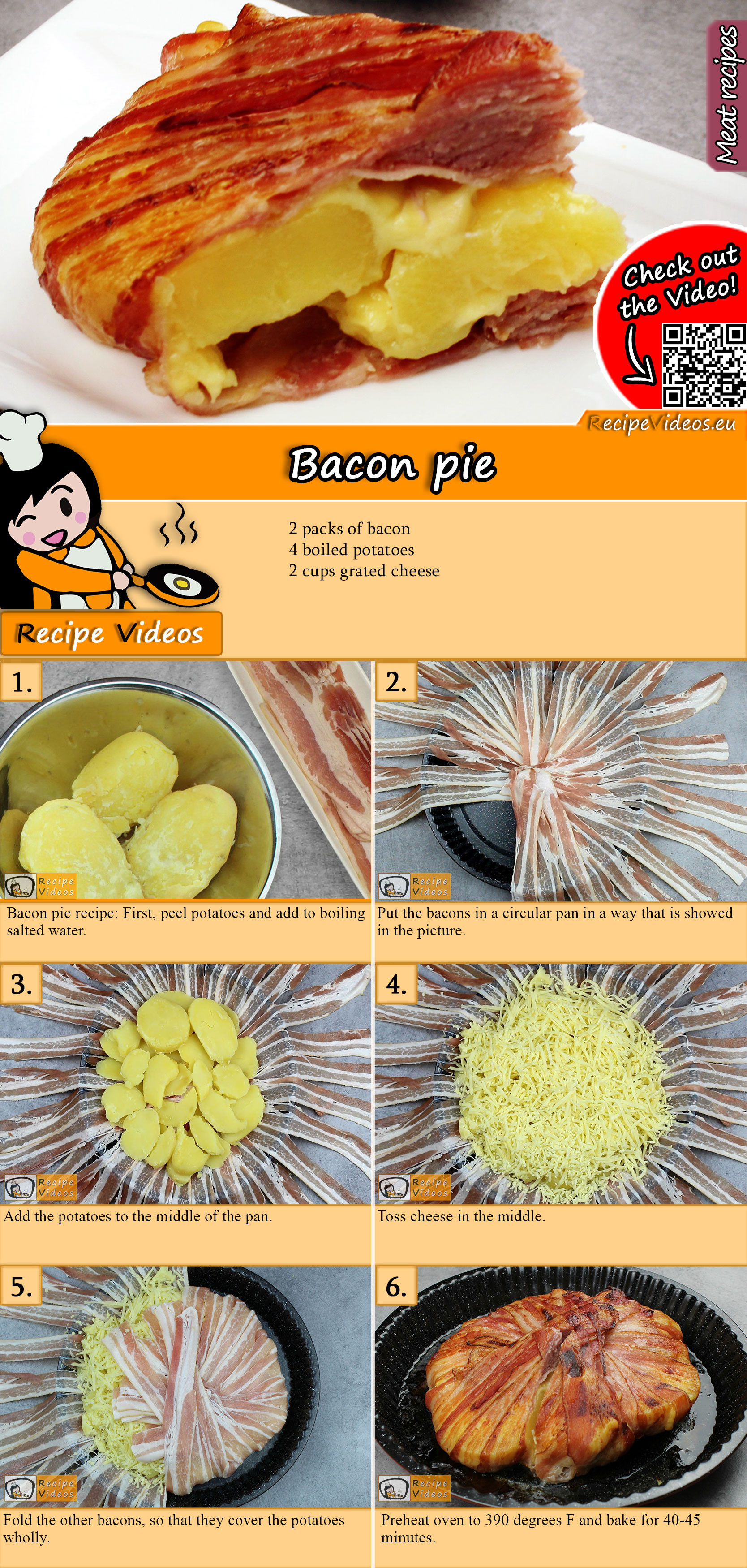 Bacon pie recipe with video
